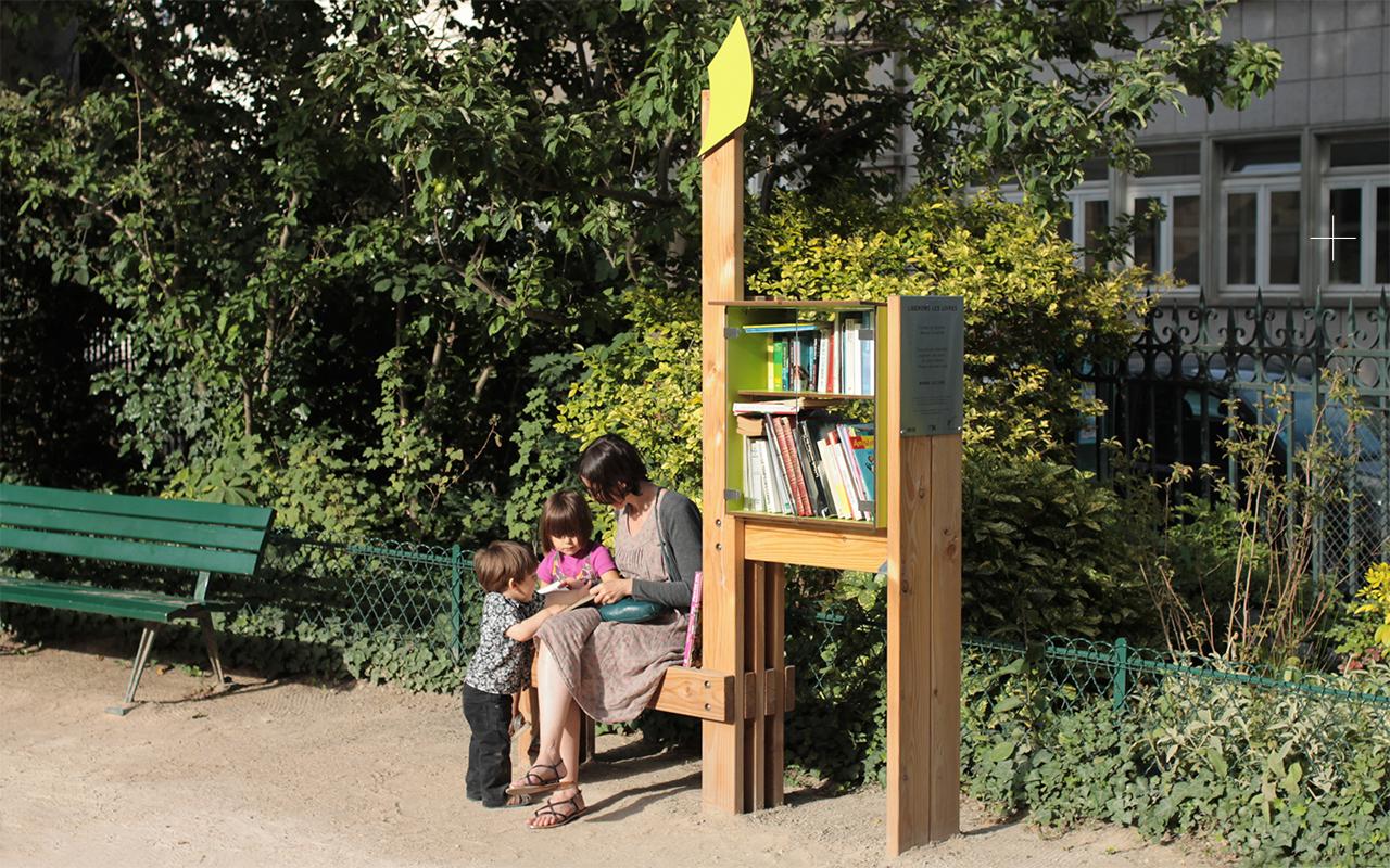 design produit / mobilier urbain / L'Arbre à Livres