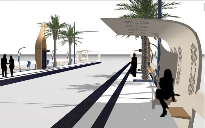 design espace urbain / station de tramway Casablanca /concours